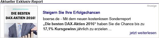 Die besten Dax-Aktien 2016 - hier kostenlos